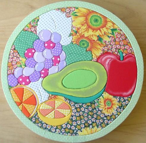 quadros artesanais para cozinha com tecido