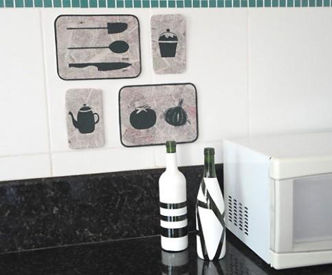 quadros artesanais para cozinha isopor