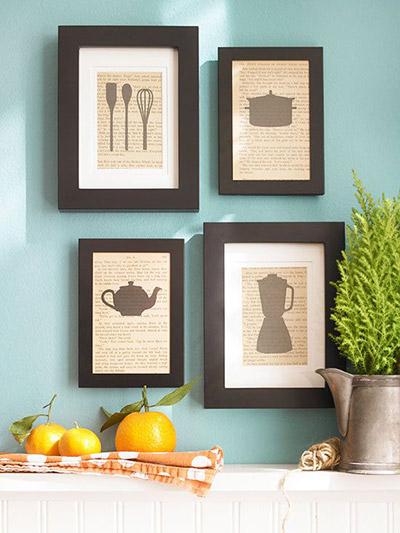 quadros artesanais para cozinha jornal