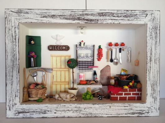 quadros artesanais para cozinha miniaturas