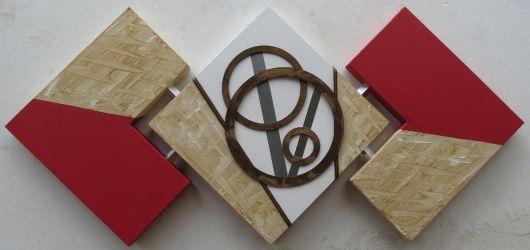 quadros artesanais tela com textura