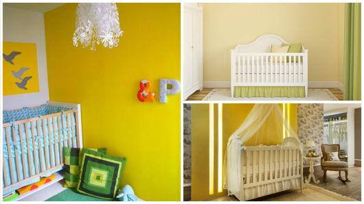 quarto de bebê amarelo capa do post