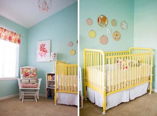 quarto de bebê amarelo com azul clarinho