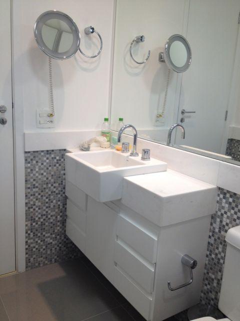 Roda meio Tipos, como colocar e 40 ambientes para copiar -> Pia Banheiro Altura Padrao