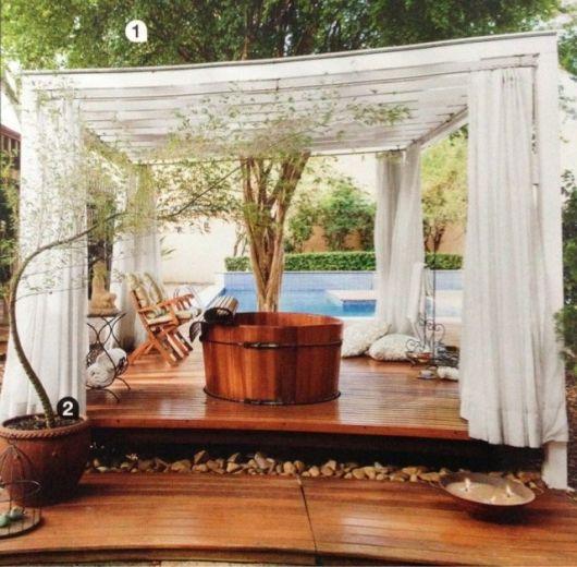 spa em casa com ofurô e piscina