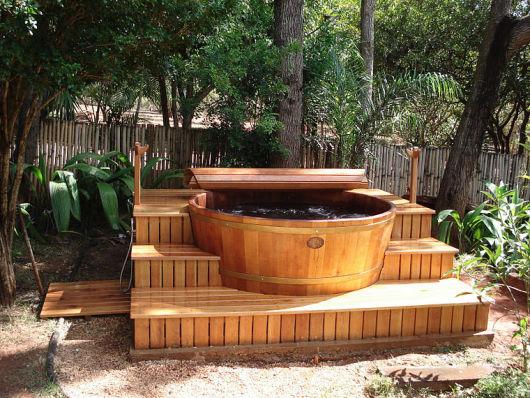 spa em casa na natureza