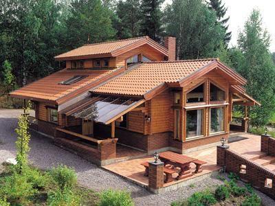 Telhados modernos tipos para escolher e 30 fotos - Casas de madera bonitas ...