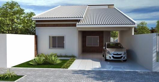 telhados modernos casa térrea bonita