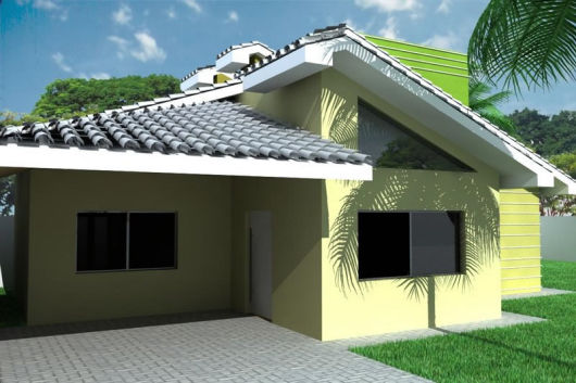 telhados modernos casa térrea