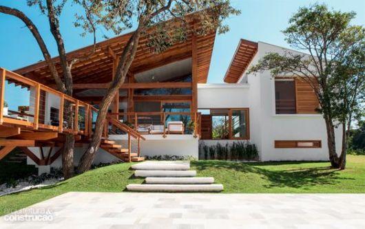 telhados modernos e aparentes
