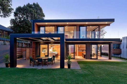telhados modernos e embutido com beiral