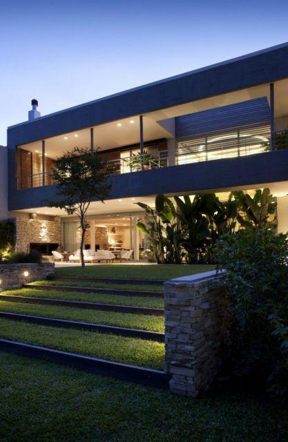 telhados modernos e embutido