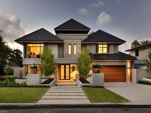 telhados modernos em sobrado