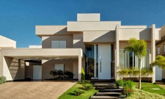 telhados modernos embutidos casa térrea