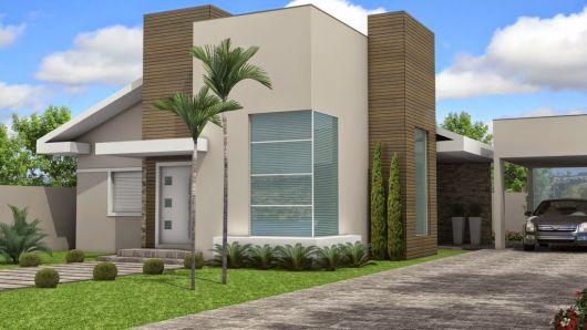 telhados modernos embutidos para casa térrea moderna