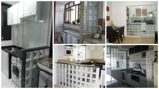 Tijolo de vidro modelos, preços e como usar na decoração! -> Armario De Banheiro Com Tijolo De Vidro
