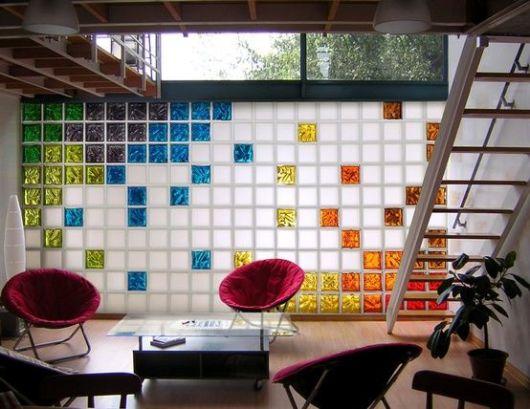 sala bloco colorido