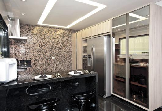 vidro reflecta cor prata cozinha
