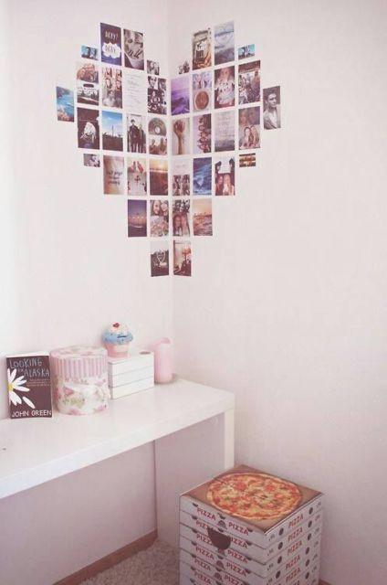 Decoração faça você mesmo fotos na parede