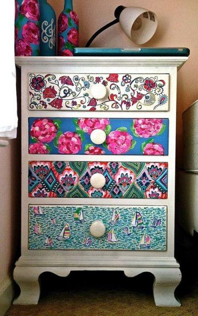 Decoração faça você mesmo gavetas decoradas