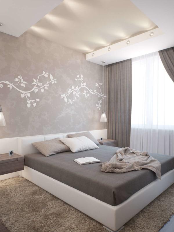 Decoração simples para quarto de casal com tons neutros