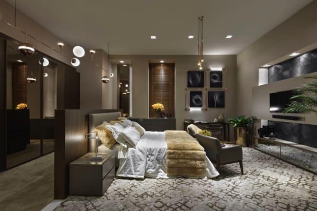 Ideias de decoração na cor fendi para quarto de casal