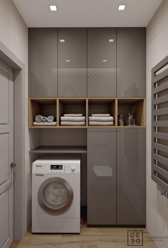 Projeto de área de serviço com armários fendi Design e Decor Interior Studio