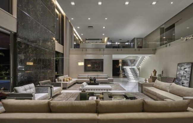 Sala de estar luxuosa e moderna fendi