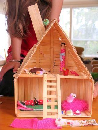 casinha de boneca artesanal