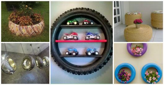 Artesanato Folclorico Do Sul ~ Artesanato com pneu 62 ideias incríveis!