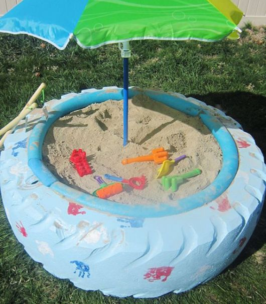 piscina de areia infantil
