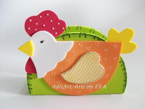 porta guardanapo galinha