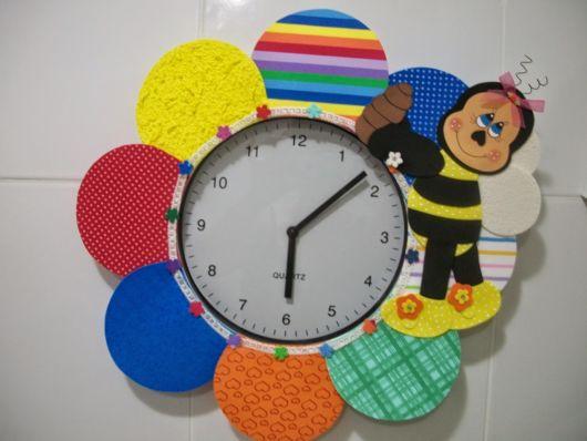 relógio decorado flor