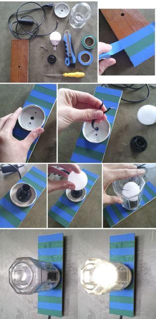 como fazer luminária de parede