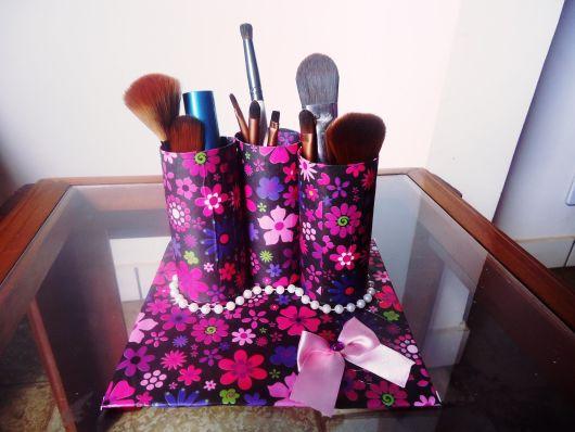 Organizador de pinceis de maquiagem