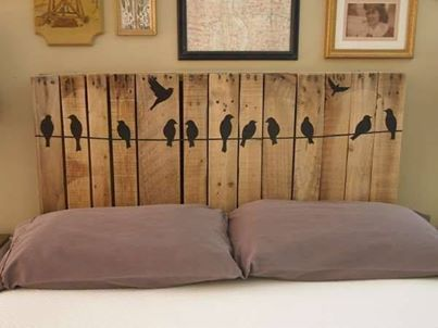 cabeceira de madeira pallets