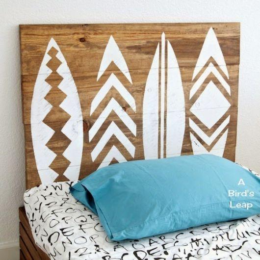cabeceira de madeira reciclada ideias