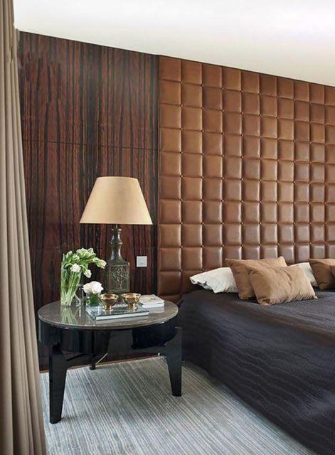 Cabeceira estofada 65 modelos lindos e passo a passo for Wooden bed designs pictures interior design