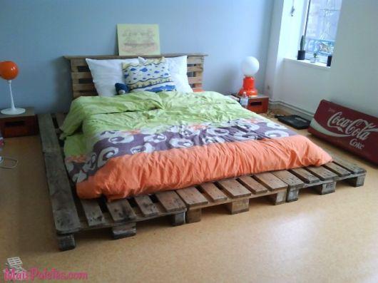 cama cabeceira de pallets