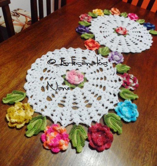 Espiral com flores