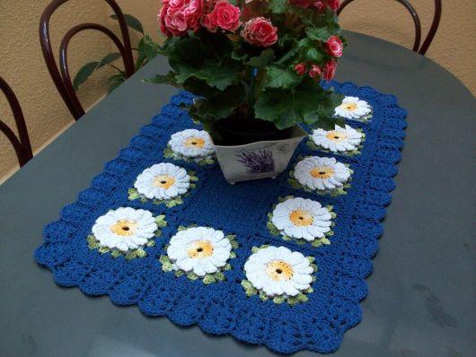Modelo retangular com flores