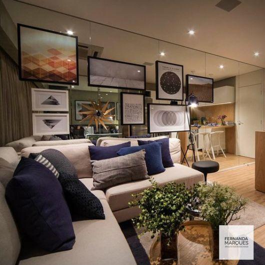 Sala Pequena Na Cor Azul ~ cor fendi na decoração na sala com outros tons