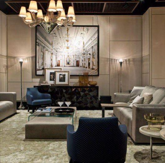 cor fendi na decoração na sala móveis