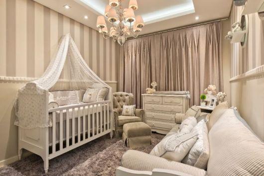 cor fendi na decoração no quarto de bebê