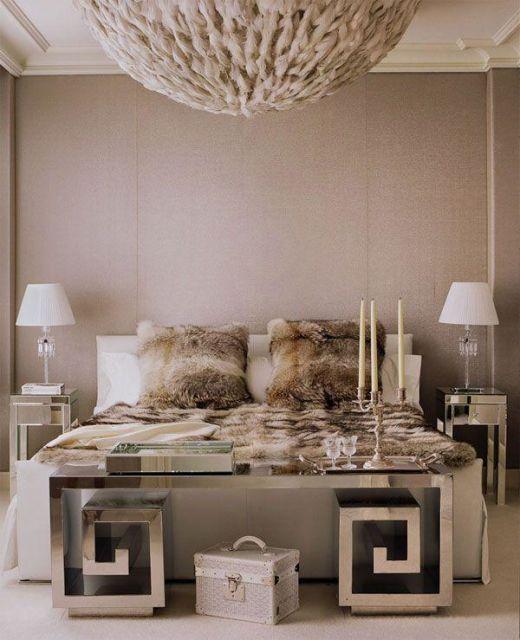 cor fendi na decoração no quarto edredom