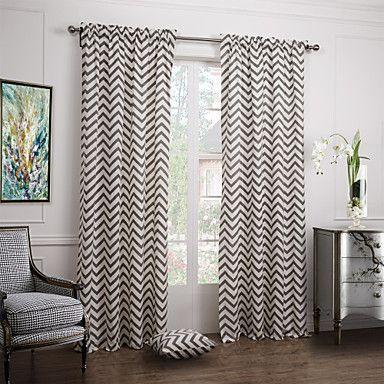 cortinas para sala chevron peb