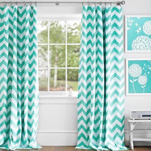 cortinas para sala chevron verde claro