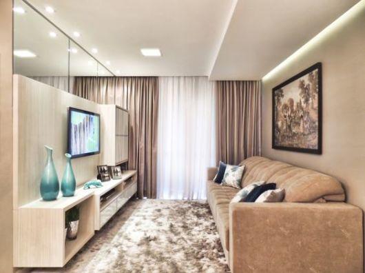Cortinas para sala como escolher o modelo ideal 60 fotos for Modelos de cortinas para sala 2016