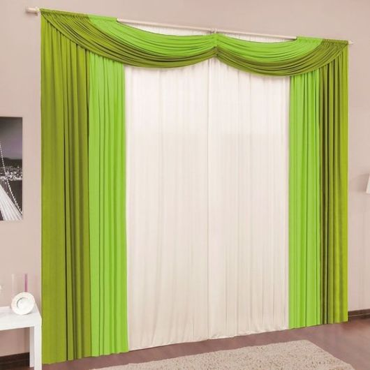 cortinas para sala com bandô