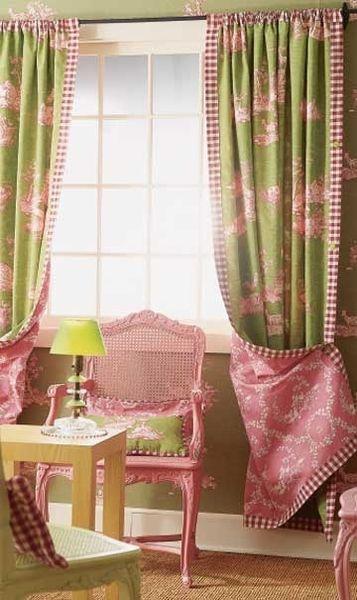 cortinas para sala floral verde